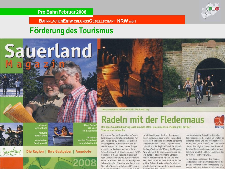 Förderung des Tourismus