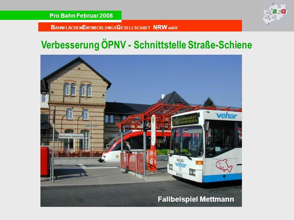 Verbesserung ÖPNV - Schnittstelle Straße-Schiene