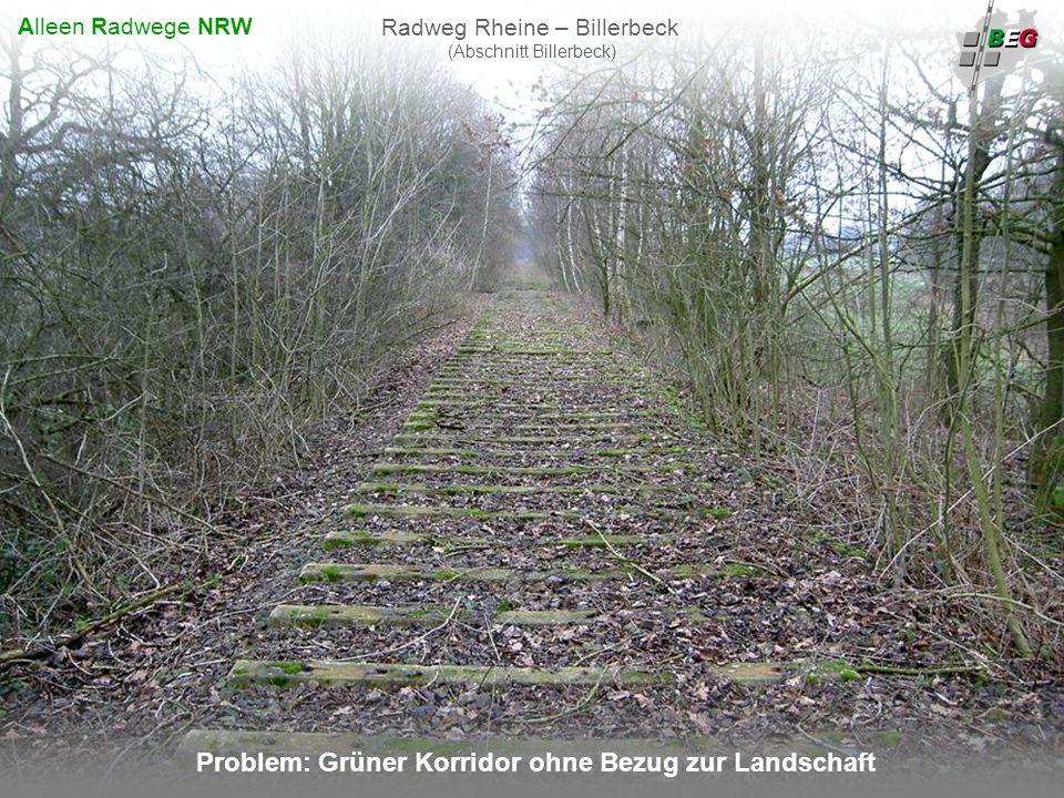 Problem: Grüner Korridor ohne Bezug zur Landschaft