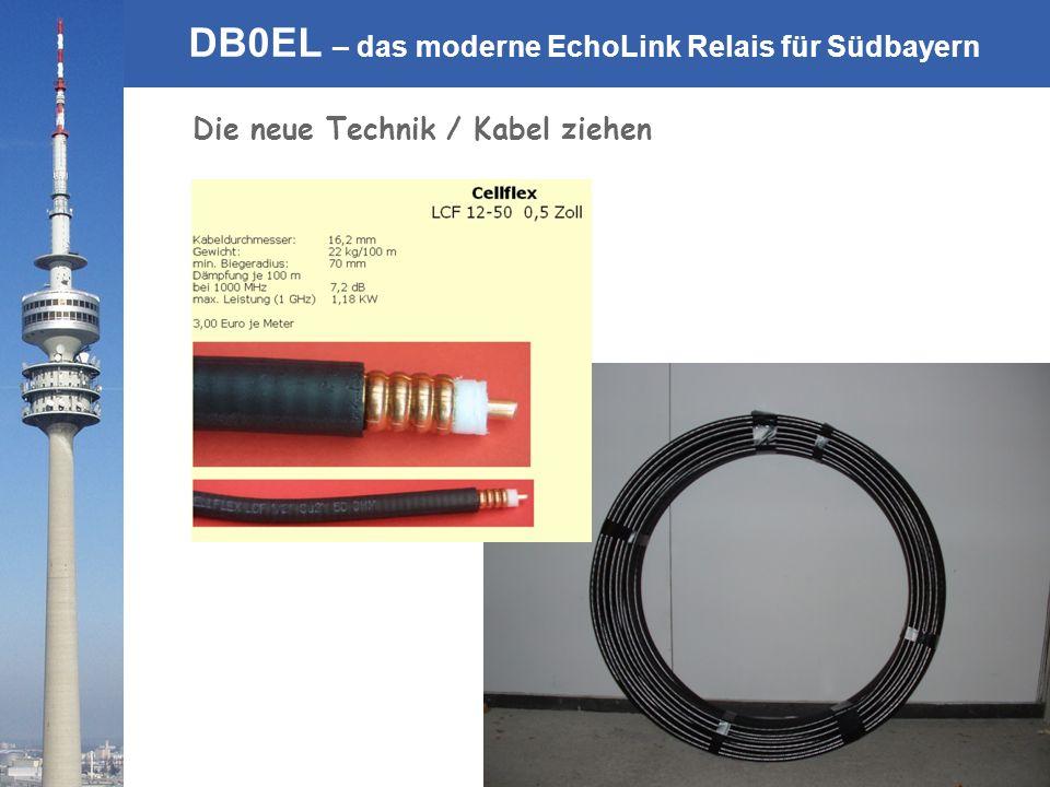 Die neue Technik / Kabel ziehen