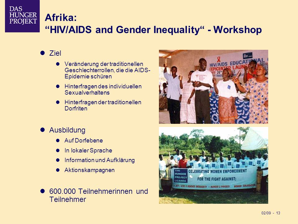 Afrika: HIV/AIDS and Gender Inequality - Workshop