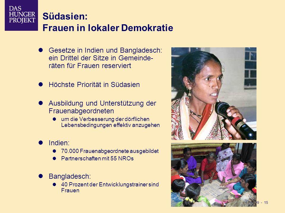 Südasien: Frauen in lokaler Demokratie