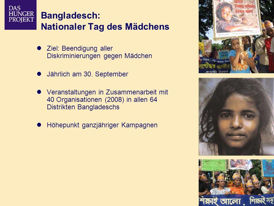 Bangladesch: Nationaler Tag des Mädchens