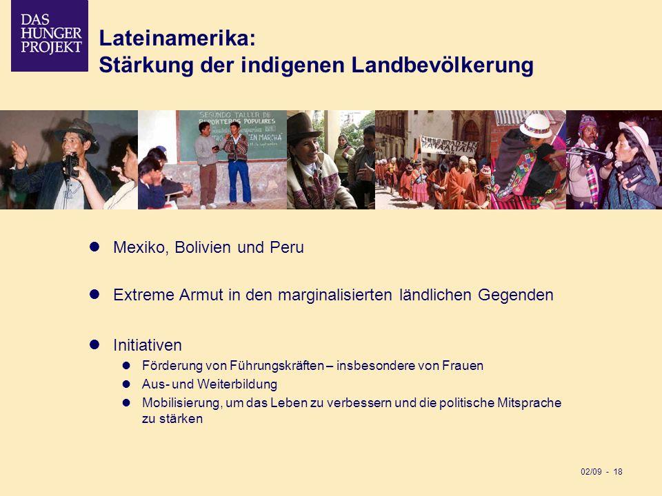 Stärkung der indigenen Landbevölkerung