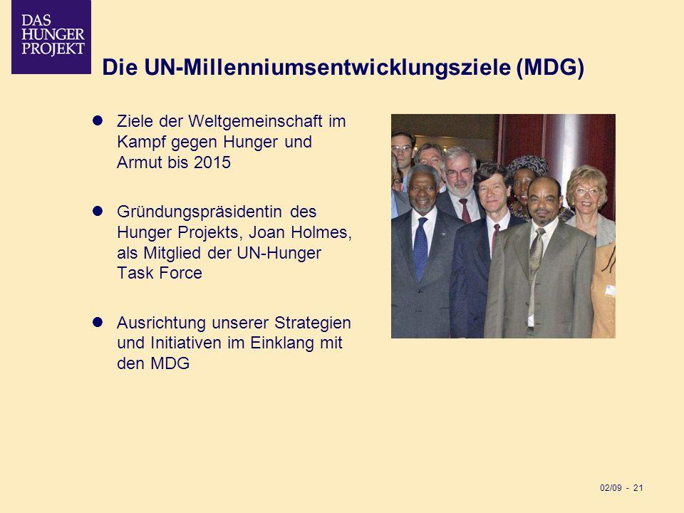 Die UN-Millenniumsentwicklungsziele (MDG)