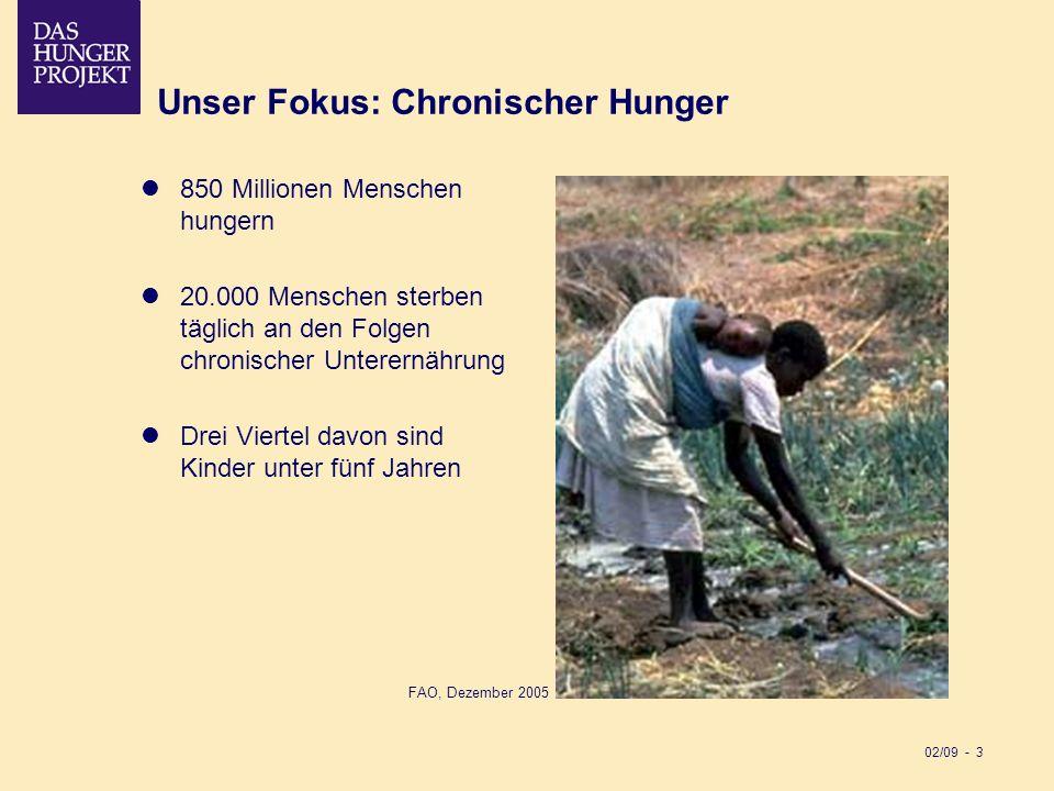 Unser Fokus: Chronischer Hunger
