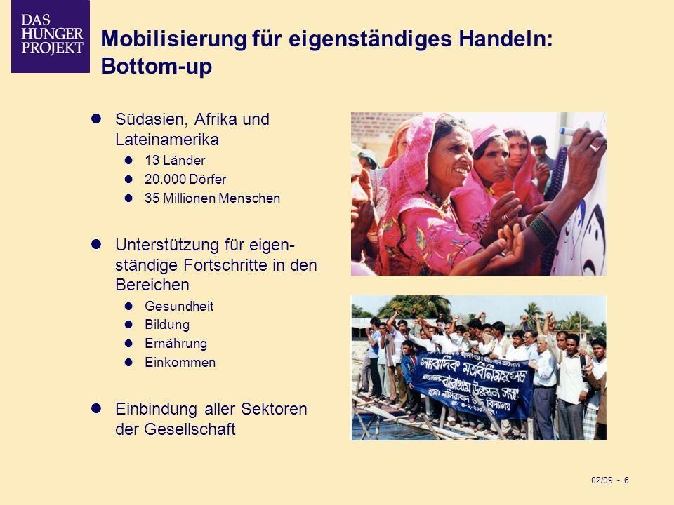 Mobilisierung für eigenständiges Handeln: Bottom-up