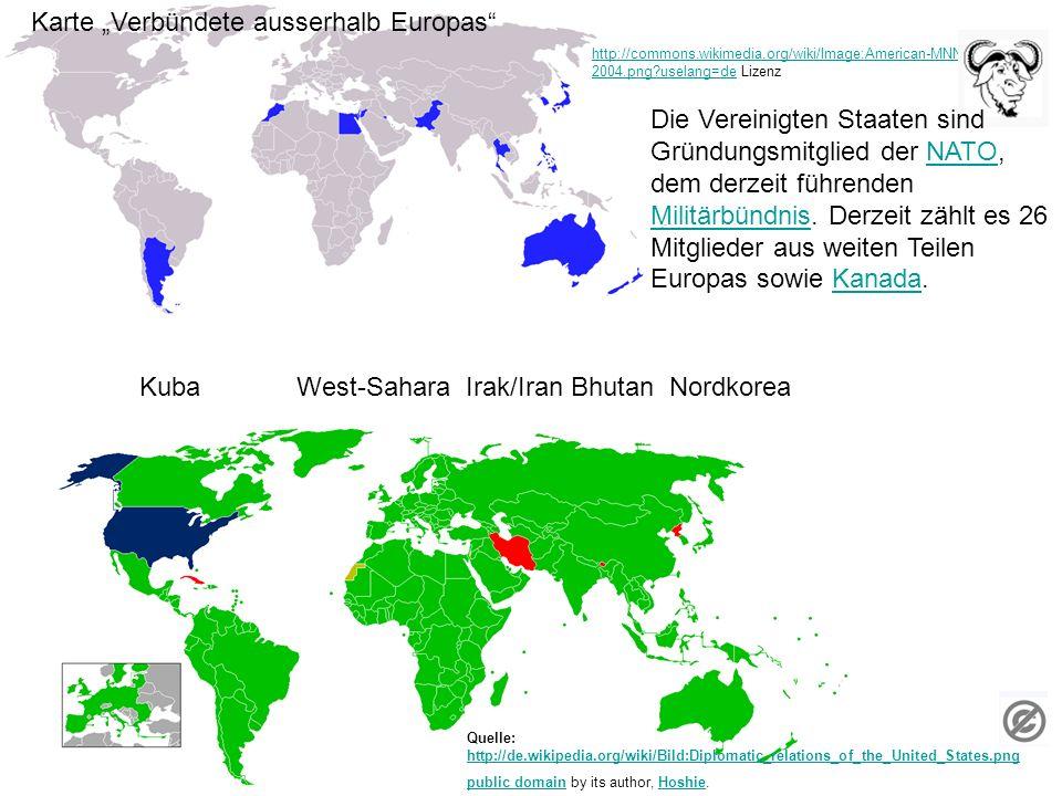 """Karte """"Verbündete ausserhalb Europas"""
