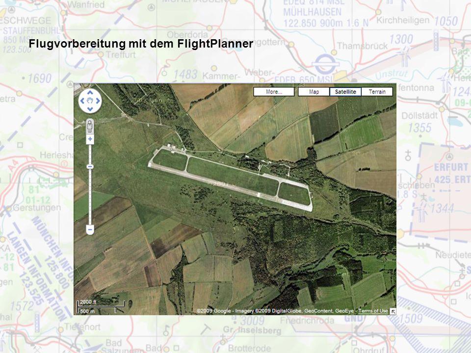 Flugvorbereitung mit dem FlightPlanner