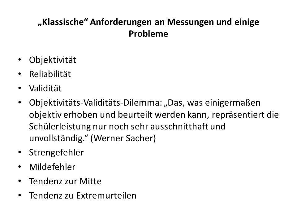 """""""Klassische Anforderungen an Messungen und einige Probleme"""