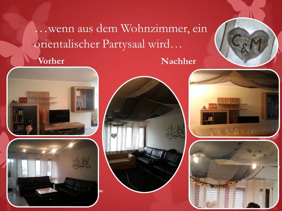 …wenn aus dem Wohnzimmer, ein orientalischer Partysaal wird…