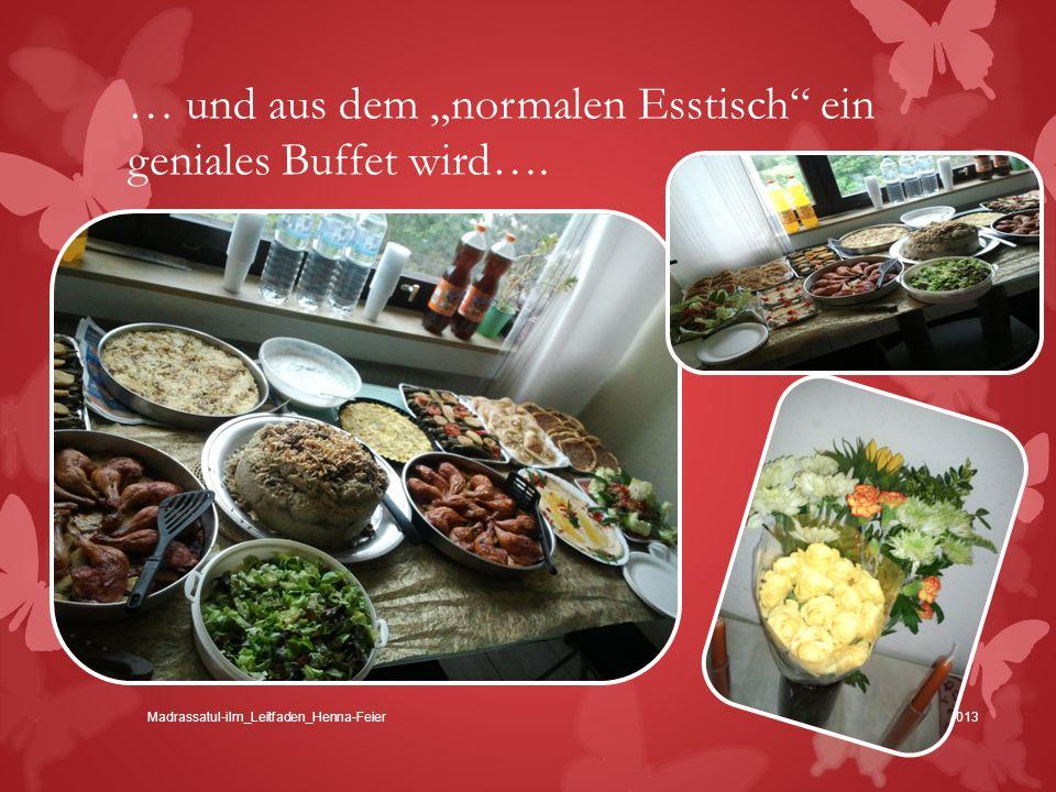 """… und aus dem """"normalen Esstisch ein geniales Buffet wird…."""
