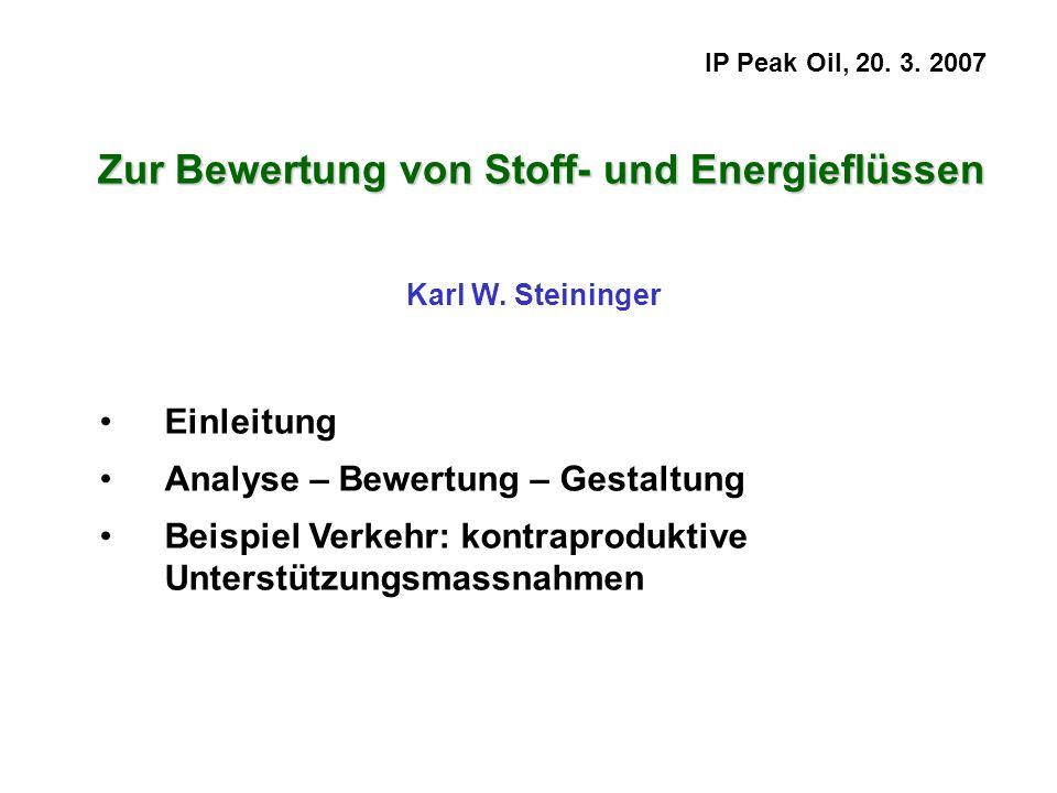 Zur Bewertung von Stoff- und Energieflüssen
