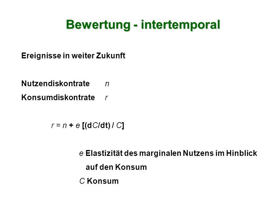 Bewertung - intertemporal