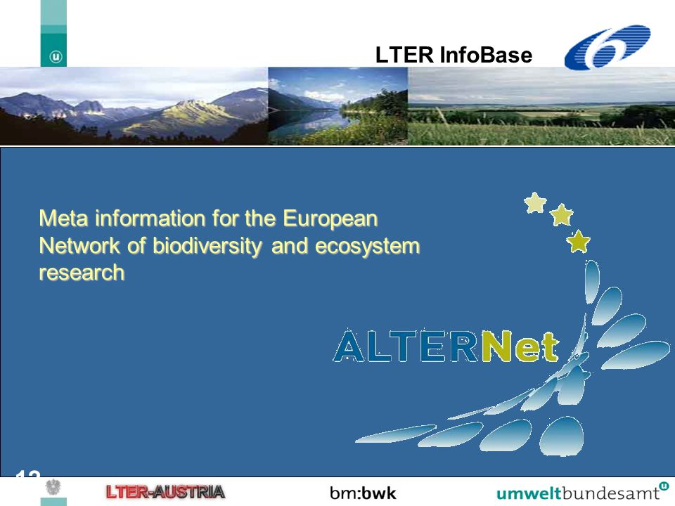 LTER InfoBase Meta information for the European Network of biodiversity and ecosystem research.