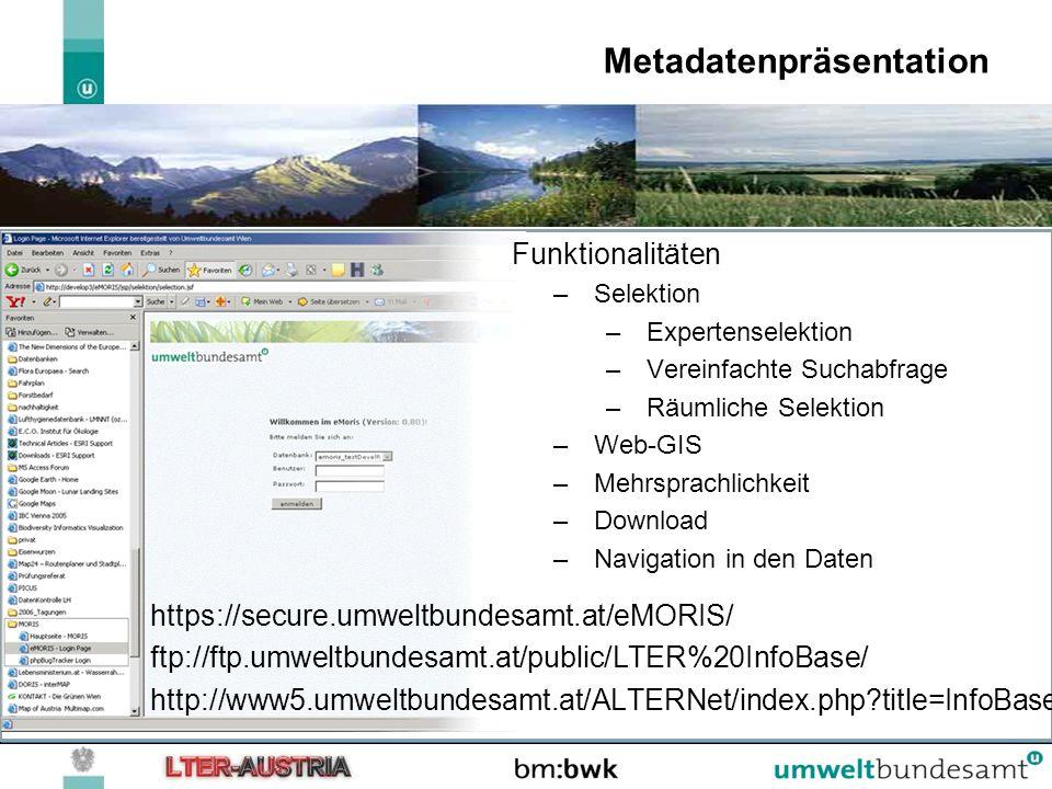 Metadatenpräsentation