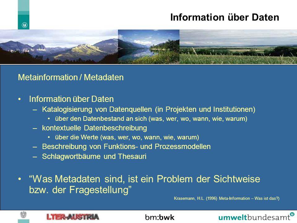 Information über Daten