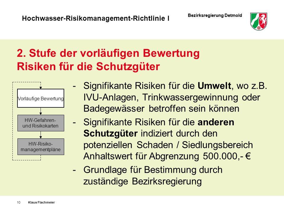 2. Stufe der vorläufigen Bewertung Risiken für die Schutzgüter