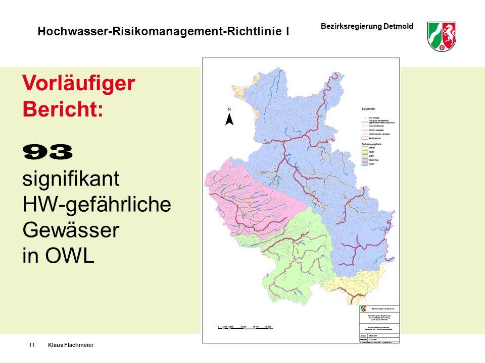 Vorläufiger Bericht: 93 signifikant HW-gefährliche Gewässer in OWL