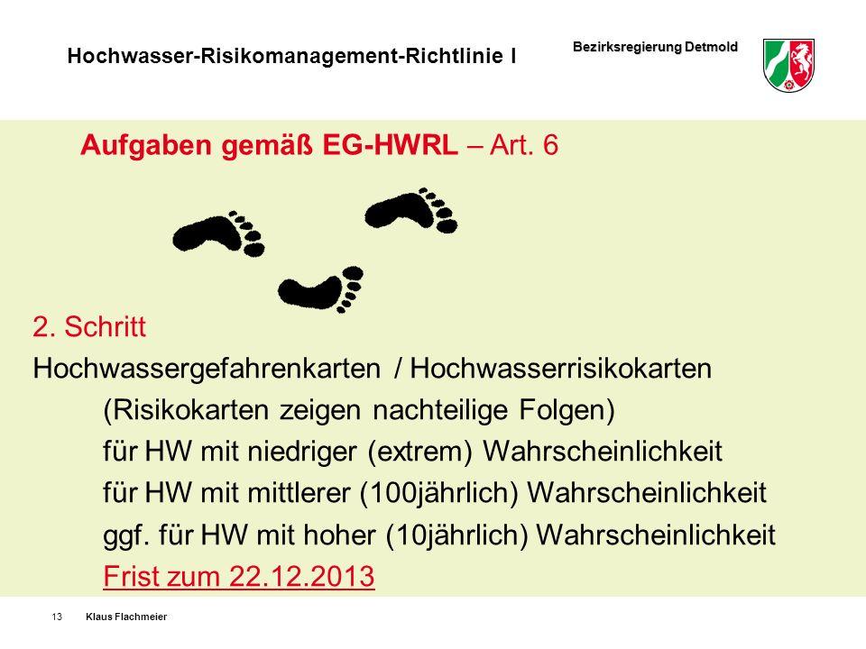 Aufgaben gemäß EG-HWRL – Art. 6