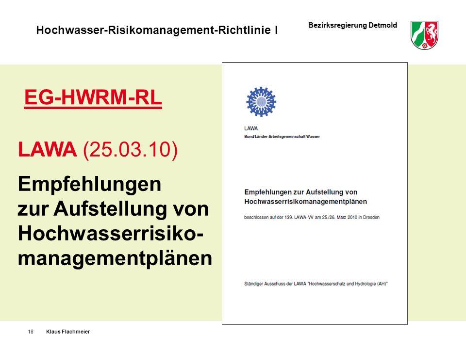 EG-HWRM-RL LAWA (25.03.10) Empfehlungen zur Aufstellung von
