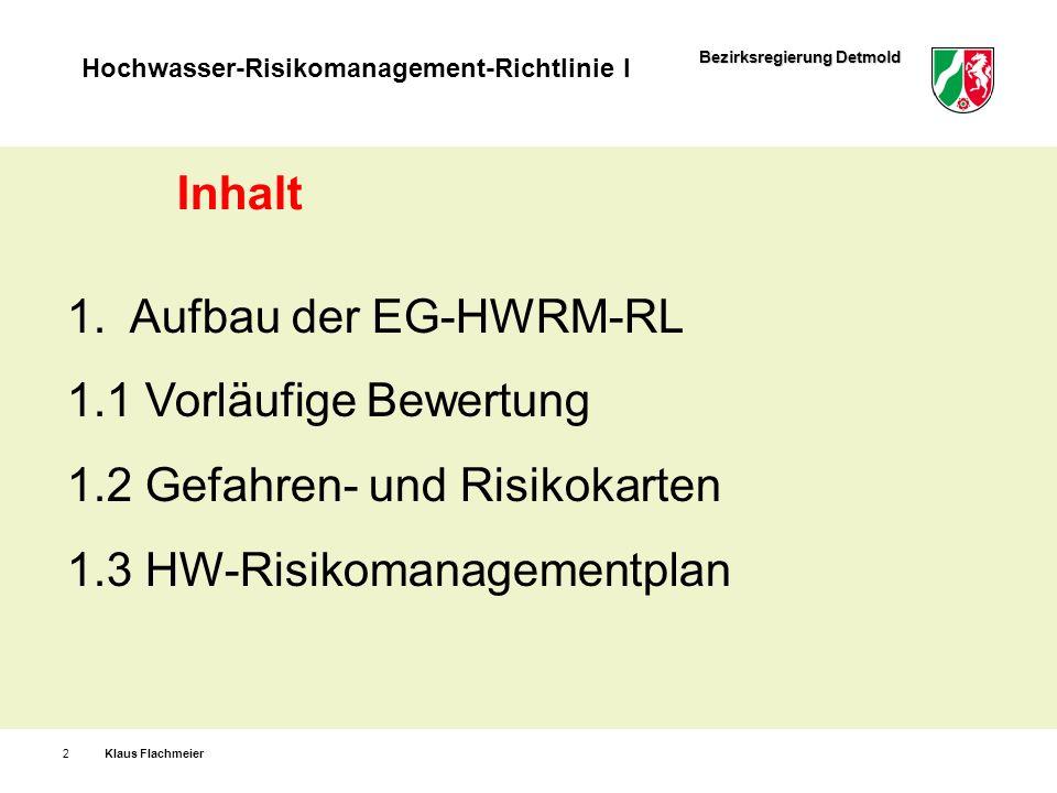 1.2 Gefahren- und Risikokarten 1.3 HW-Risikomanagementplan