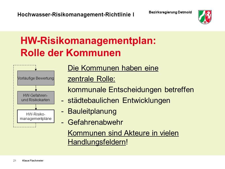 HW-Risikomanagementplan: Rolle der Kommunen