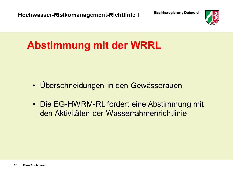 Abstimmung mit der WRRL