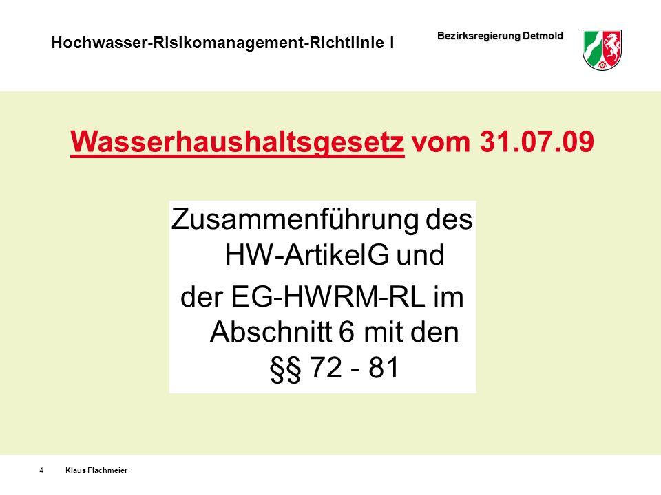 Wasserhaushaltsgesetz vom 31.07.09