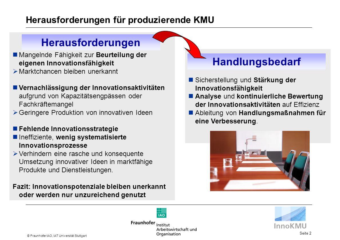 Herausforderungen für produzierende KMU