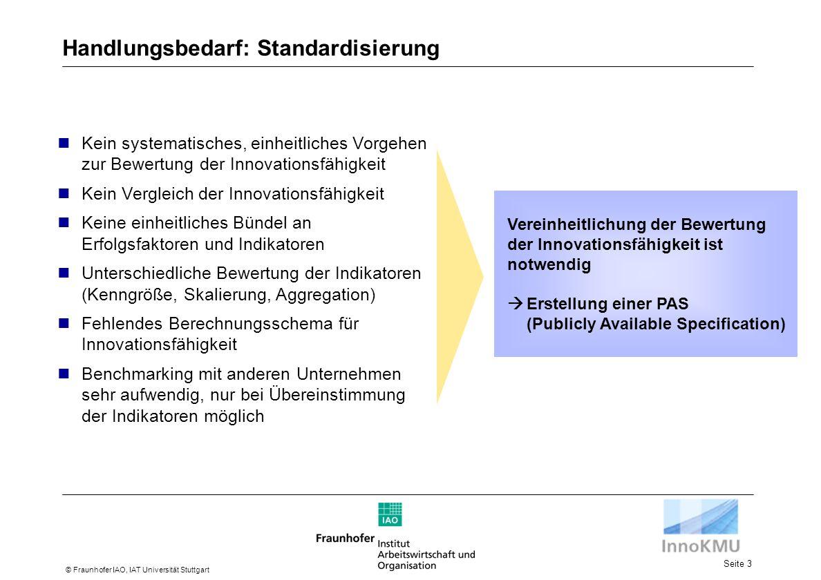Handlungsbedarf: Standardisierung