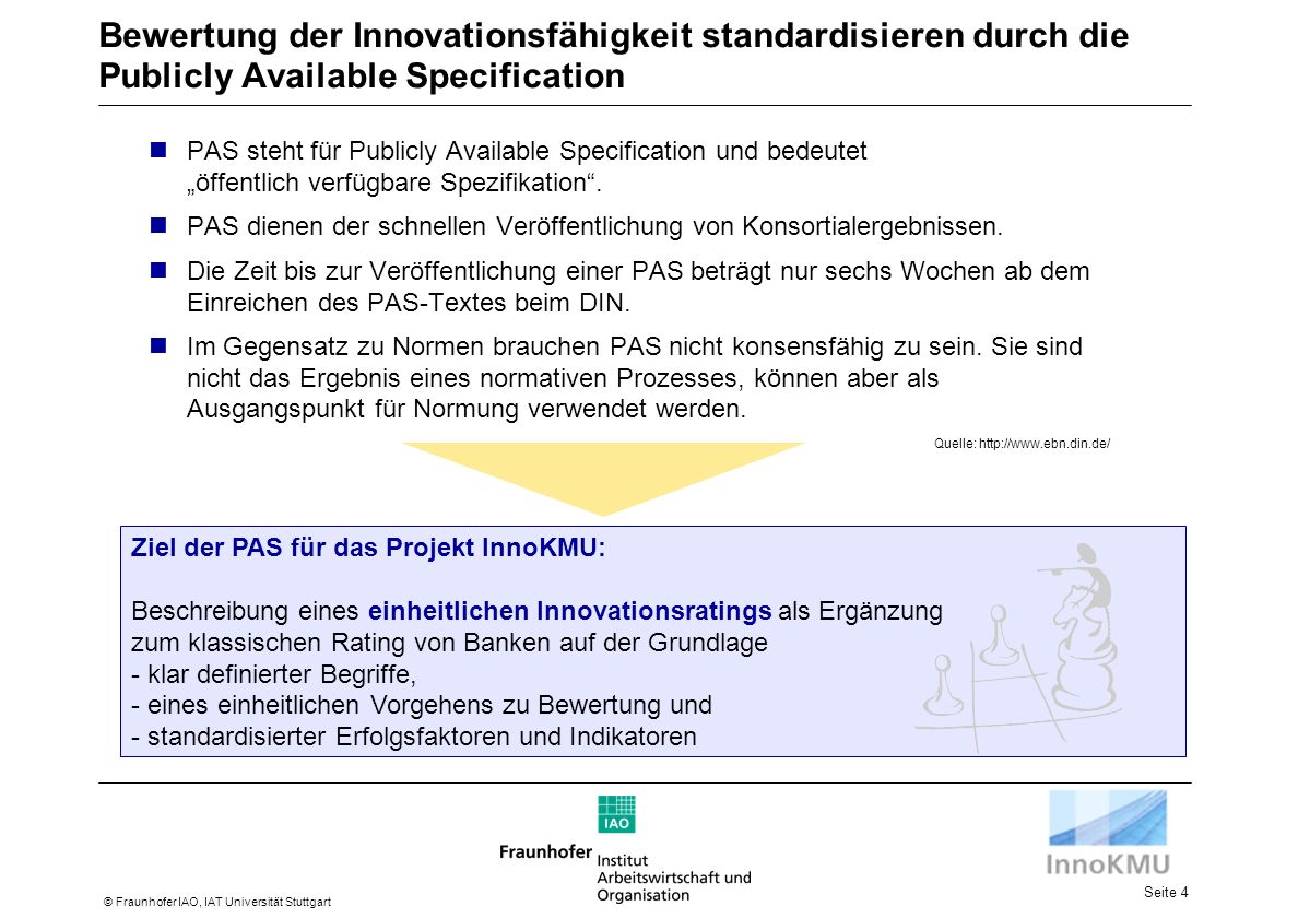 Bewertung der Innovationsfähigkeit standardisieren durch die Publicly Available Specification