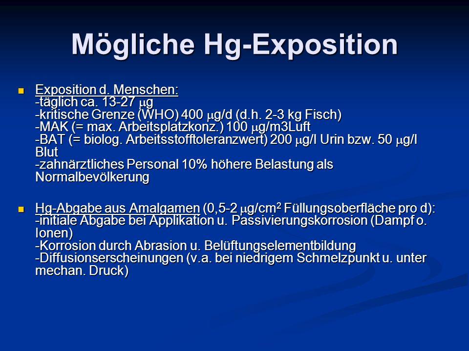 Mögliche Hg-Exposition
