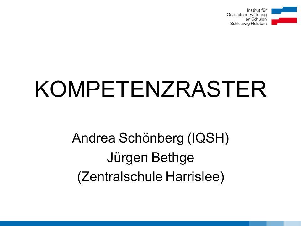 Andrea Schönberg (IQSH) Jürgen Bethge (Zentralschule Harrislee)