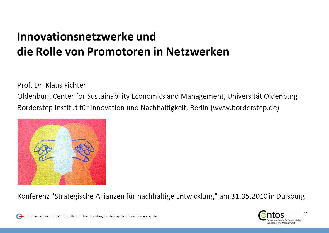 Innovationsnetzwerke und die Rolle von Promotoren in Netzwerken