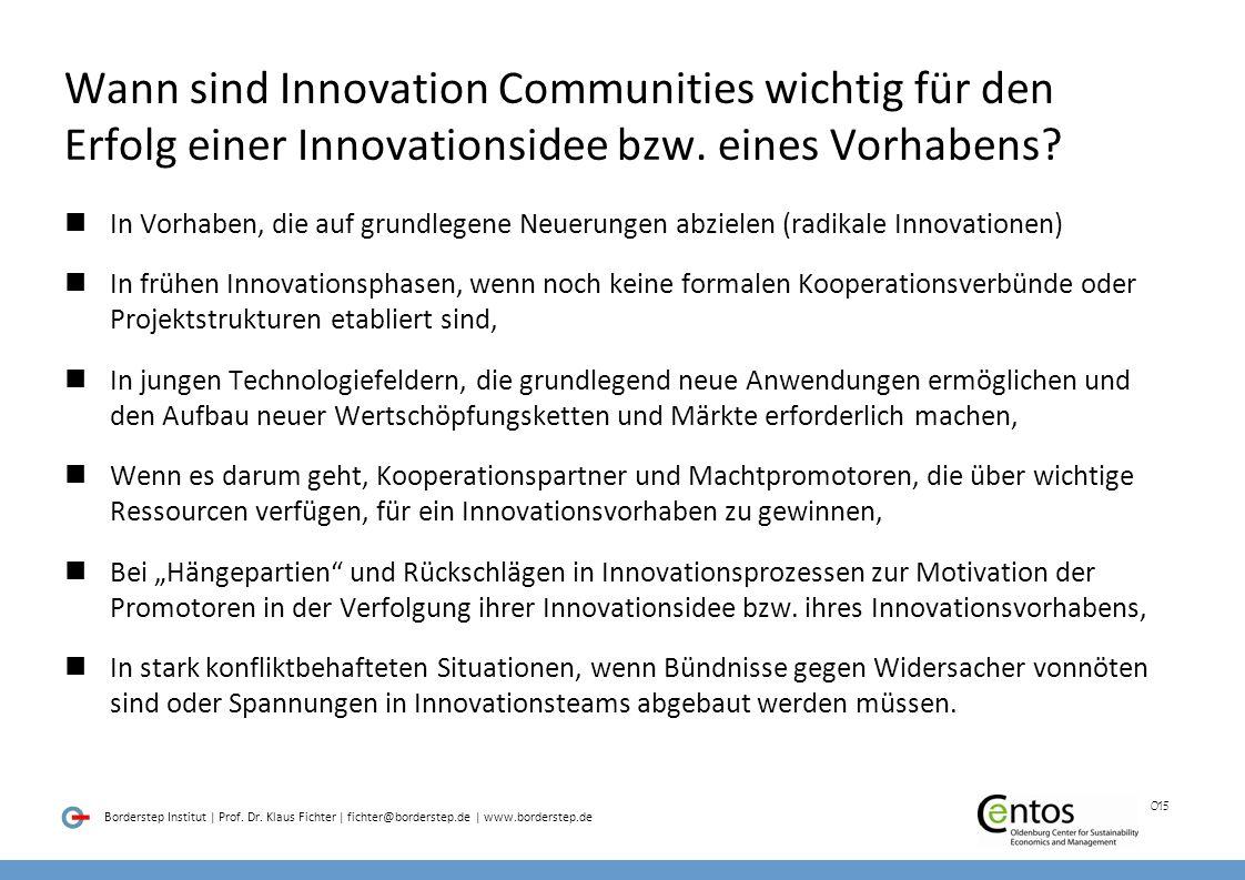 Wann sind Innovation Communities wichtig für den Erfolg einer Innovationsidee bzw. eines Vorhabens