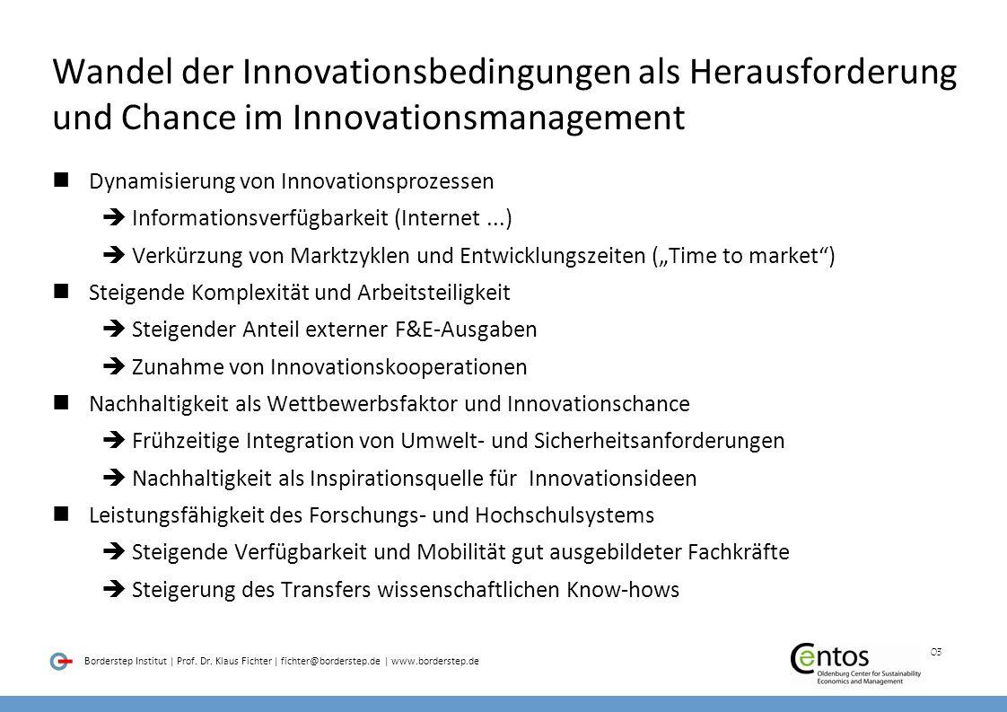 Wandel der Innovationsbedingungen als Herausforderung und Chance im Innovationsmanagement