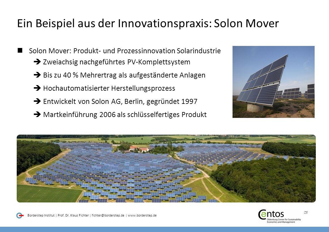 Ein Beispiel aus der Innovationspraxis: Solon Mover