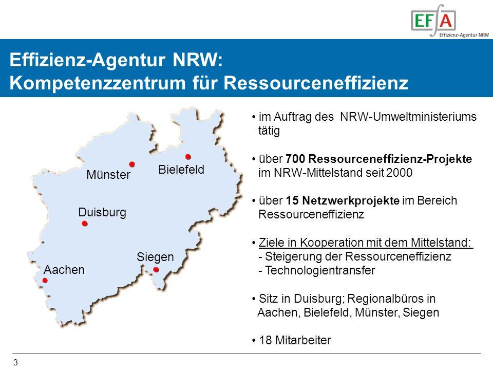 Effizienz-Agentur NRW: Kompetenzzentrum für Ressourceneffizienz