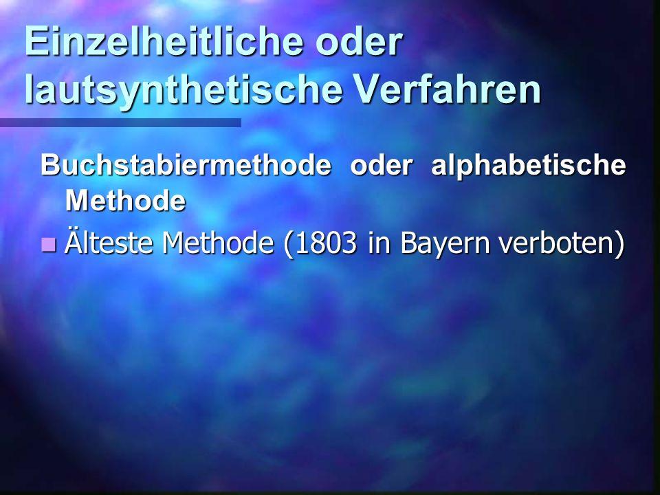 Einzelheitliche oder lautsynthetische Verfahren