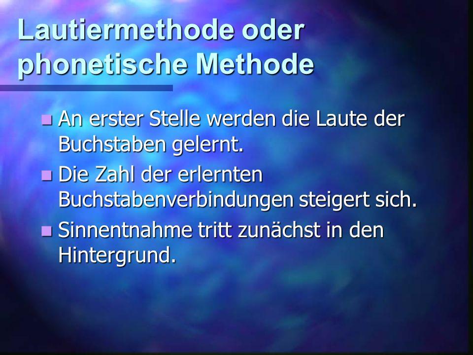Lautiermethode oder phonetische Methode