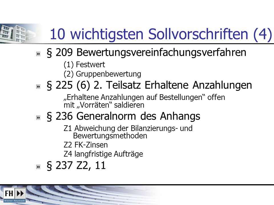 10 wichtigsten Sollvorschriften (4)