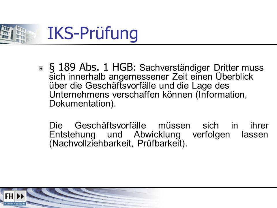 IKS-Prüfung
