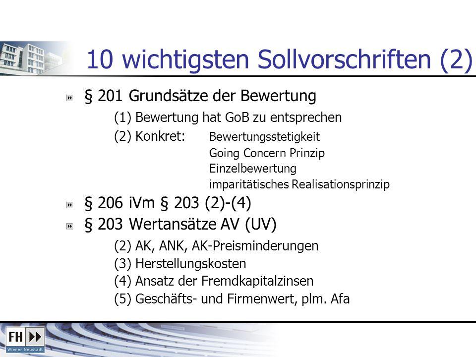 10 wichtigsten Sollvorschriften (2)