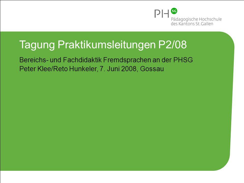 Tagung Praktikumsleitungen P2/08