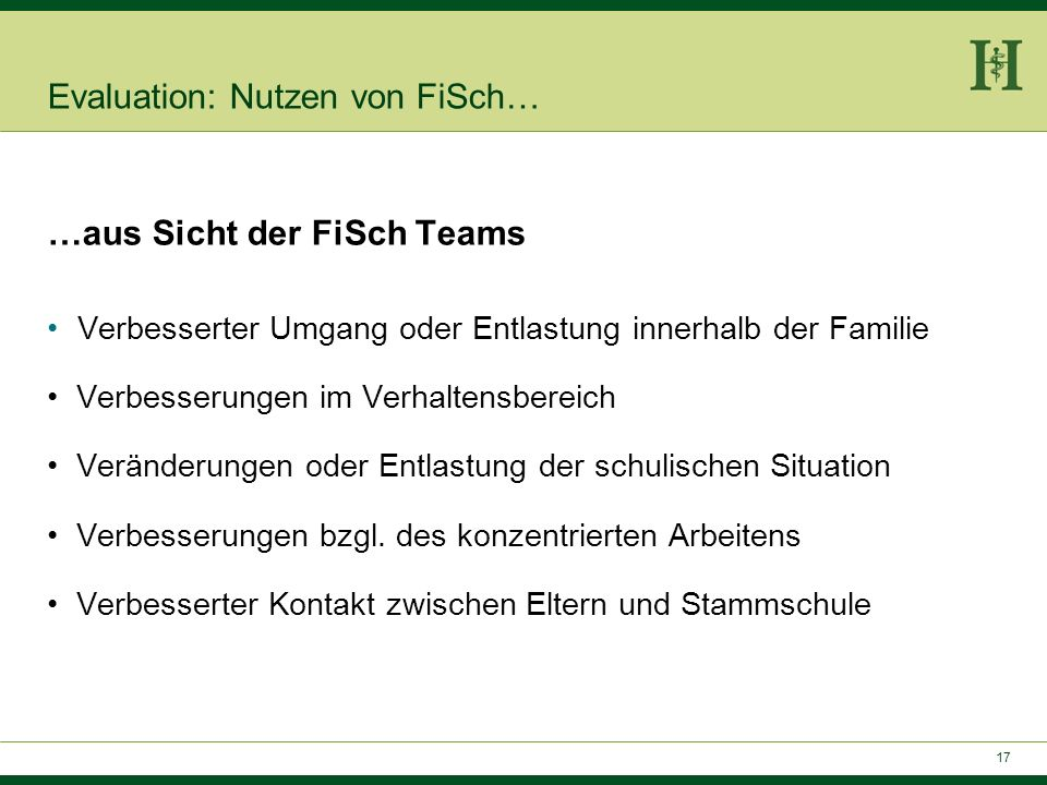 Evaluation: Nutzen von FiSch…