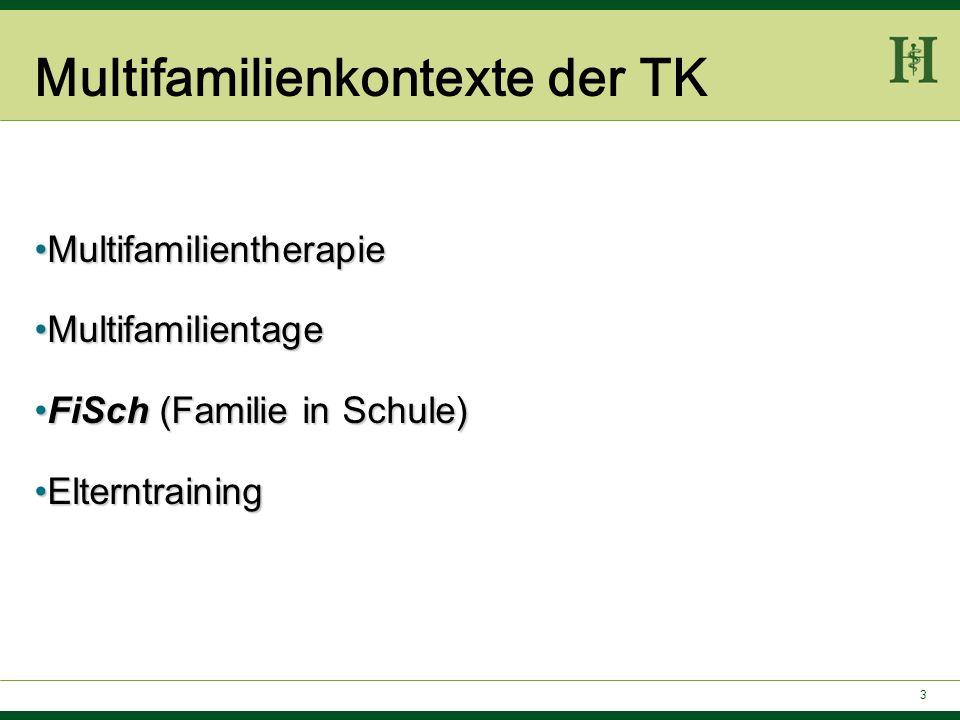 FiSch – Teilnehmer 4 – 8 Kinder mit Verhaltensproblemen im schulischen Bereich: Kinder der TK.