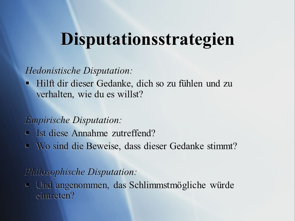 Disputationsstrategien