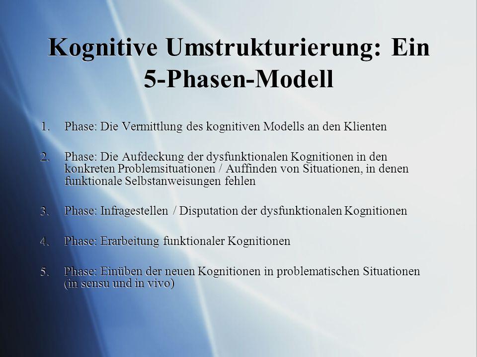 Kognitive Umstrukturierung: Ein 5-Phasen-Modell