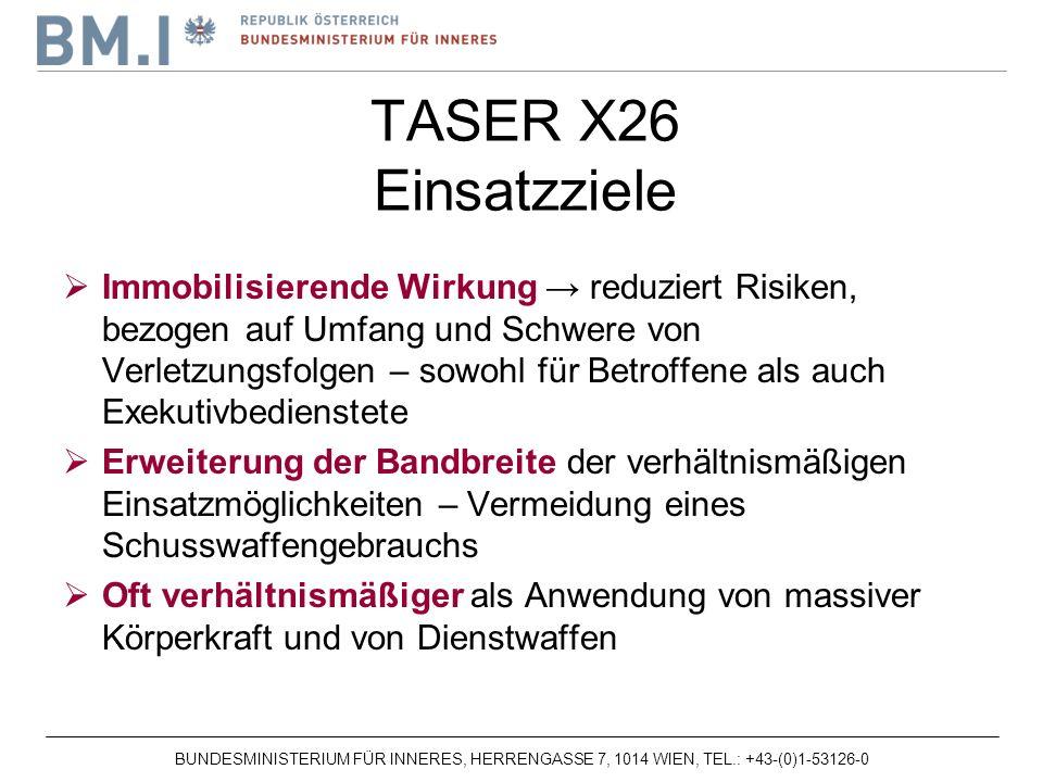 TASER X26 Einsatzziele